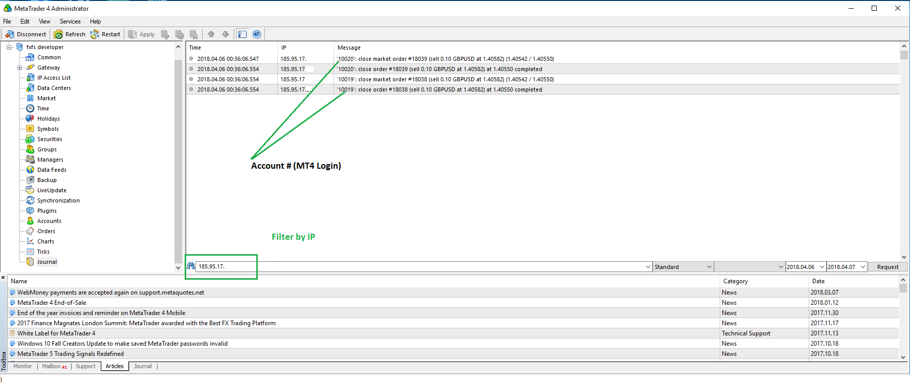 mt4 administrator ip filter