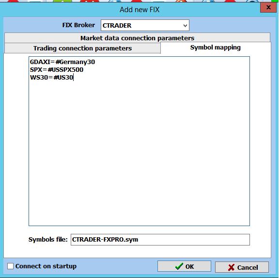 ctrader arbitrage fxpro symbols mapping