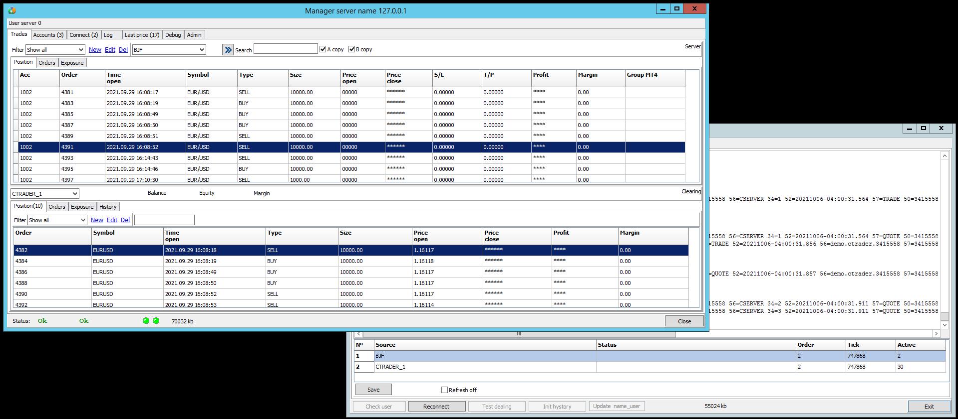FIX API Splitter interface