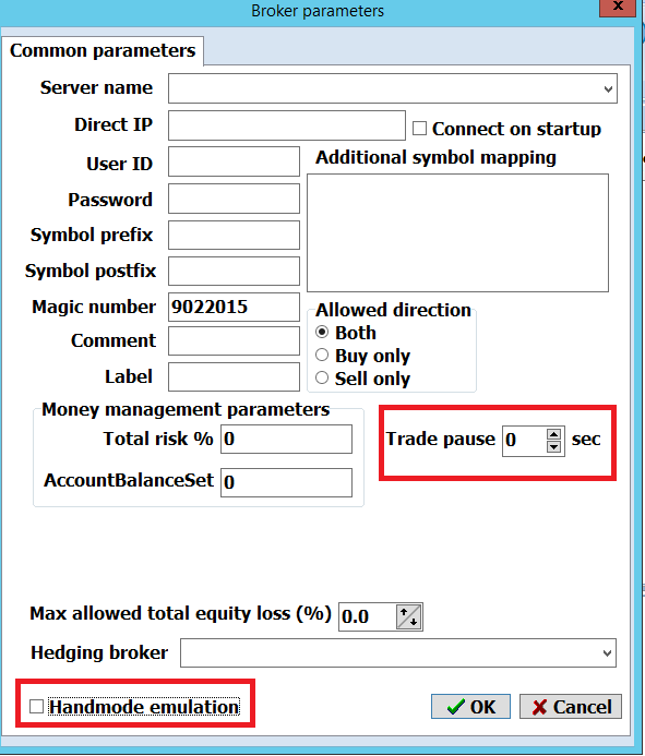 locking arbitrage no trade pause and no manual emulation