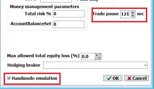 locking arbitrage with manual and trading pause