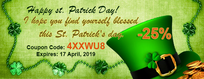 st patric day 25% off