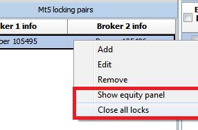 vip mt5 lock equity panel